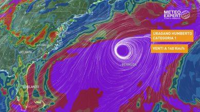 uragano Humberto Bermuda