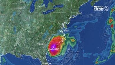uragano Dorian traiettoria