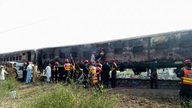 Pakistan incendio treno