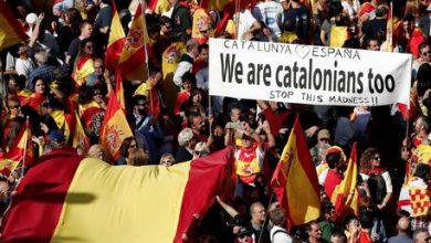 Barcellona corteo unionisti