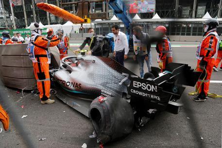 GP Messico Bottas incidente