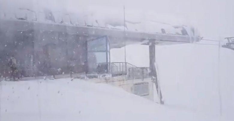 bufera di neve video austria