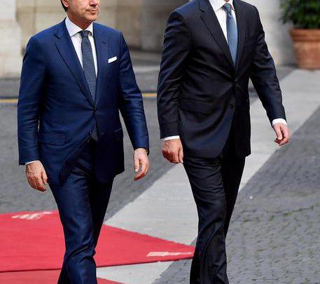 Turchia Giuseppe Conte e Jens Stoltenberg ,