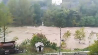 fiume stura video maltempo genova