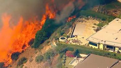 incendio los angeles california video