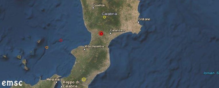 terremoto catanzaro oggi