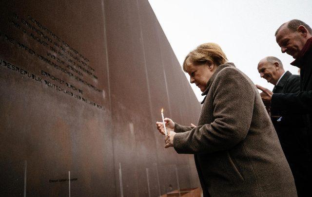 muro berlino merkel