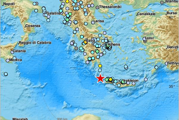 terremoto creta oggi