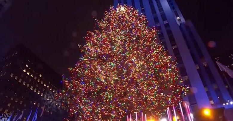 albero natale new york